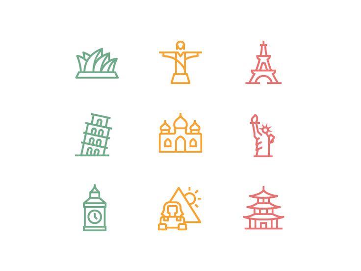 Landmarks for Love by Zach Roszczewski for Flaticons