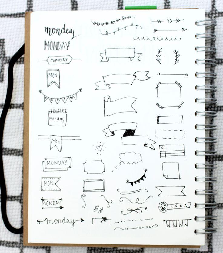 Bullet Journal Header Inspiration and Tutorials | www.hannahemilylane.com