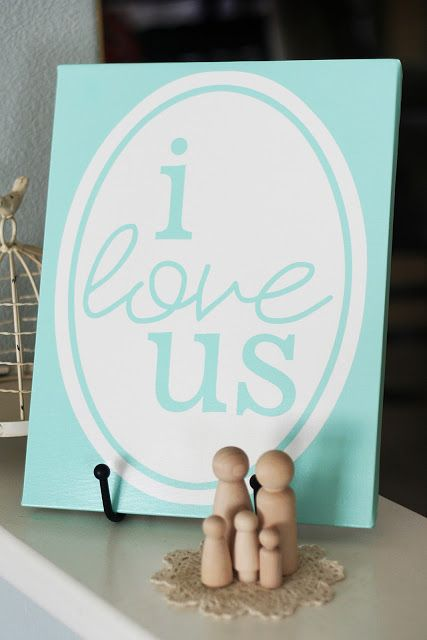 I love us! free printable in many colors to match your home decor or Valentine's Day decor.