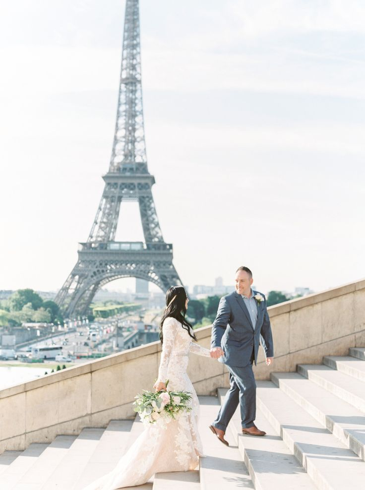 Denise + David \\ Paris, France Wedding \\ Paris Romantic Film Wedding Photographer » Lauren Fair Photography