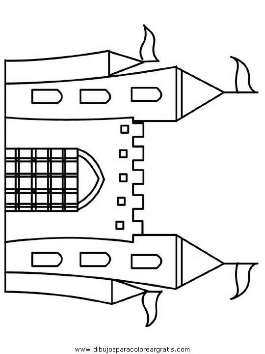 Dibujos para colorear edad media para la escuelita for Free printable castle coloring pages