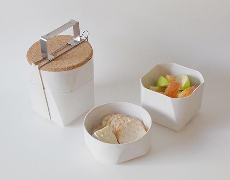Tiffin Lunch Kit -- Lonchera de cerámica inspirada en los bentos japoneses