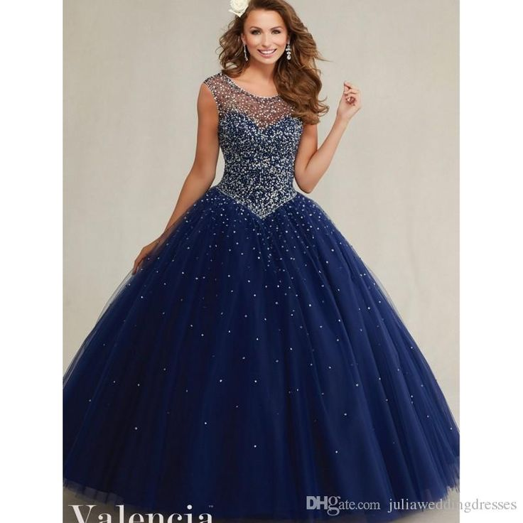 New beautiful midnight blue backless quinceanera dress for Midnight blue wedding dress