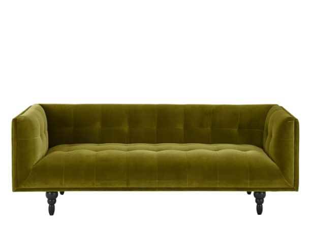Connor 3 Seater Sofa, Olive Cotton Velvet