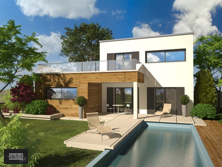 Olbia construction villa demeure design etage for Maison mobile moderne