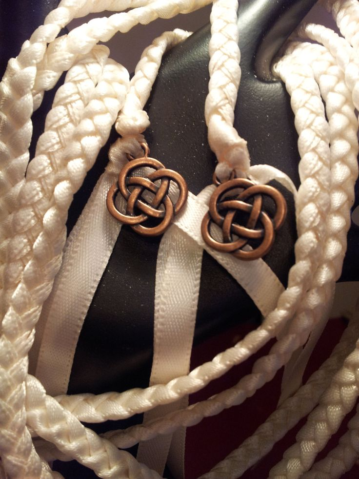 Ivory Celtic Knot Wedding Hand Fasting Binding Cord By