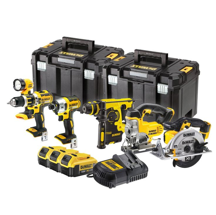 The Dewalt DCK699M3T is a comprehensive set of premium cordless power tools featuring XR Lithium-Ion Technology.
