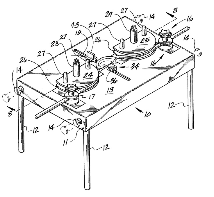Here is a sketch of a tube bending machine.