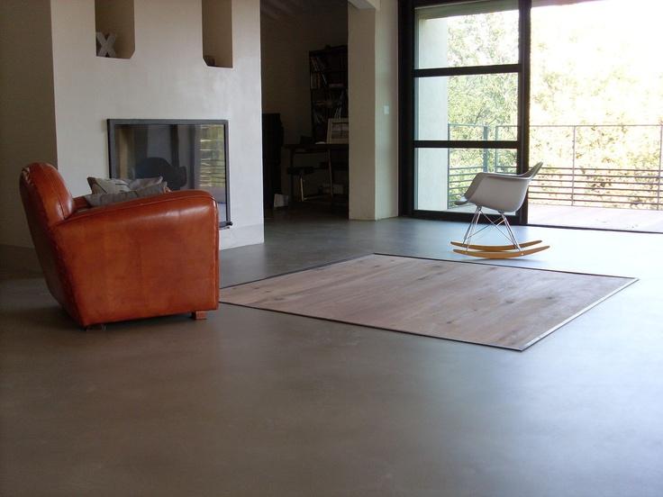 coloured concrete flooring PIECE A VIVRE BETON COULE Mercadier