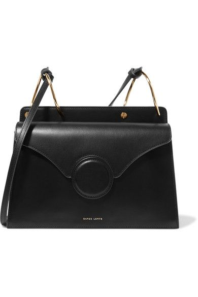 Black leather (Calf) Snap-fastening front flap Comes with dust bag  Weighs approximately 2lbs/ 0.9kg