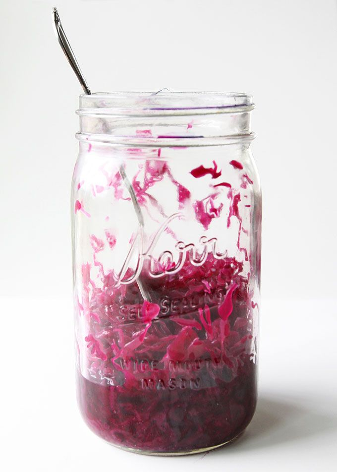 [Purple Sauerkraut] + Click For Recipe!  #easy #recipes #seasonal