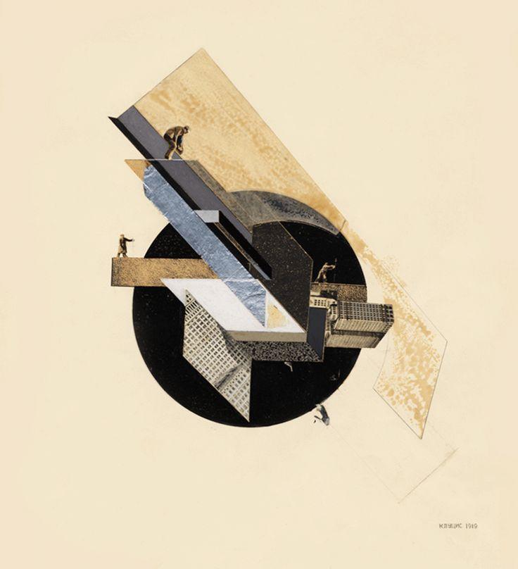 Dynamic City (1919) by Gustav Klutsis