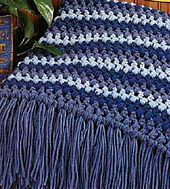 Ravelry: Puff-Striped Afghan pattern by Country Woman..easy and pretty blanket to crochet..free pattern!!