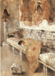 Interior from manor house: Helene Schjerfbeck