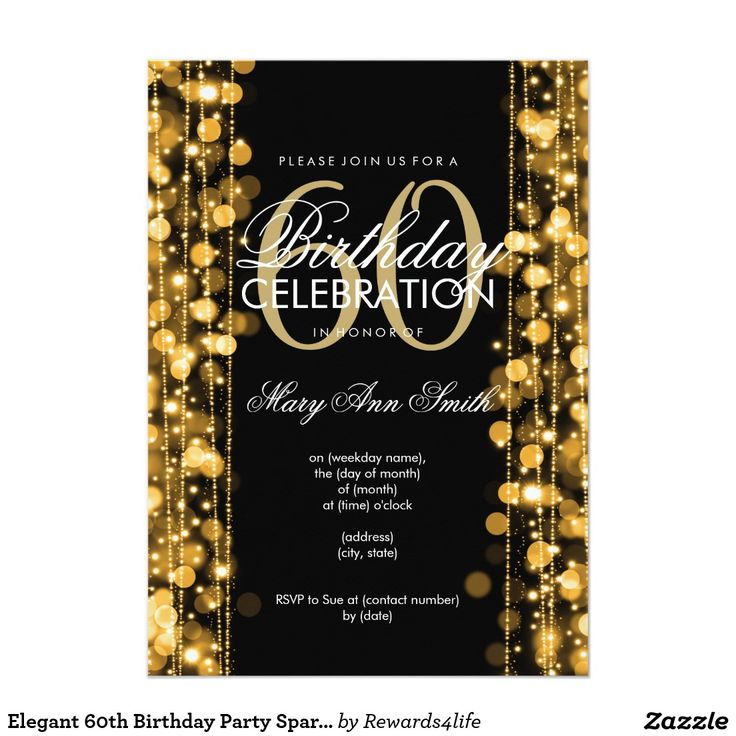 60th birthday invitation - Etame.mibawa.co