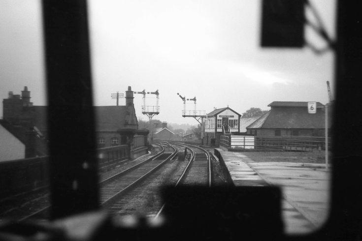 Lichfield city station approaching 1974