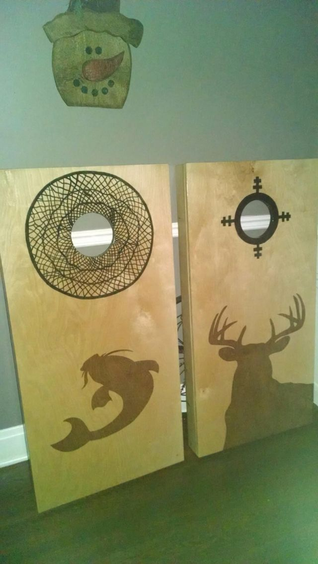 deer catfish cornhole boards - Cornhole Design Ideas