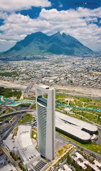 Monterrey con su cerro de la silla México