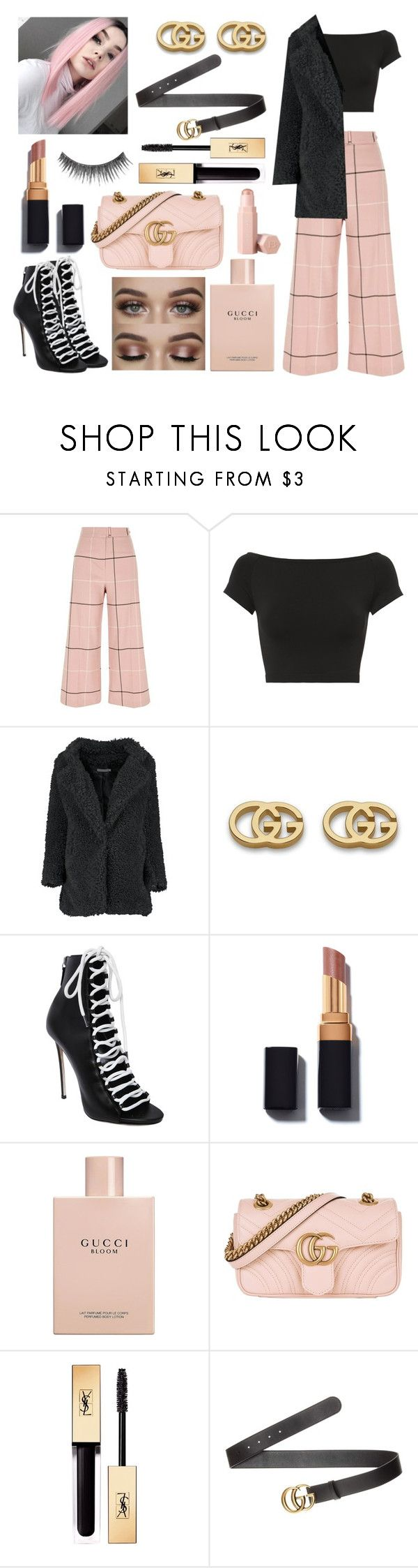 """""""Teddy Coat"""" by juliapoldervaart ❤ liked on Polyvore featuring River Island, Helmut Lang, Gucci, Dsquared2, Yves Saint Laurent, Puma and NYX"""