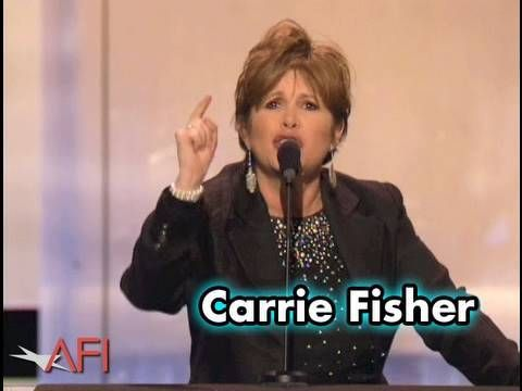 Carrie Fisher Hilariously Roasts George Lucas at the AFI Life Achievement Award Ceremony in 2005