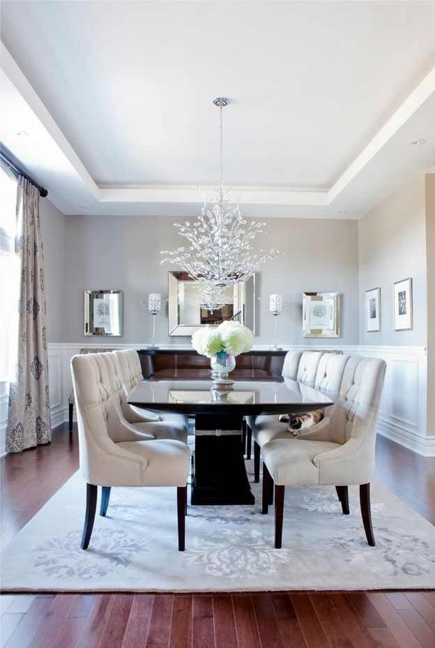 Hudson Residence - transitional - Dining Room - Montreal - Rebecca Mitchell Interiors & Boutique