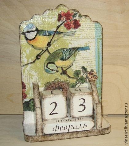 """Календари ручной работы. Ярмарка Мастеров - ручная работа Вечный календарь """"Синичкино счастье"""". Handmade."""