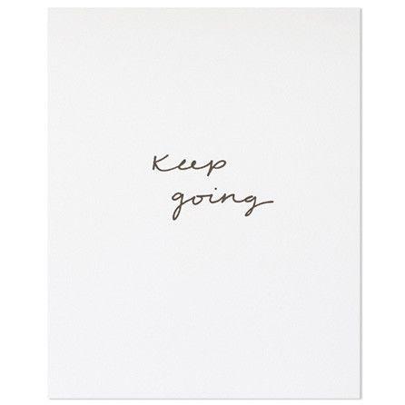 "Sugar Paper ""Keep Going"" Art Print"