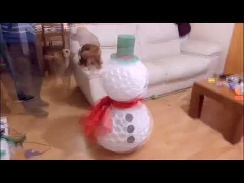 Bonhomme de neige en gobelets plastique - YouTube