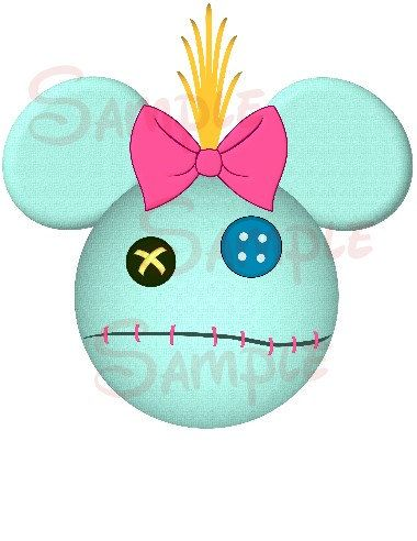 Scrump (Lilo and Stitch) inspired DIGITAL printable Mickey Head file DIY on Etsy, $3.00