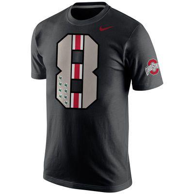 Ohio State Buckeyes Nike All Black Commemorative #8 T-Shirt