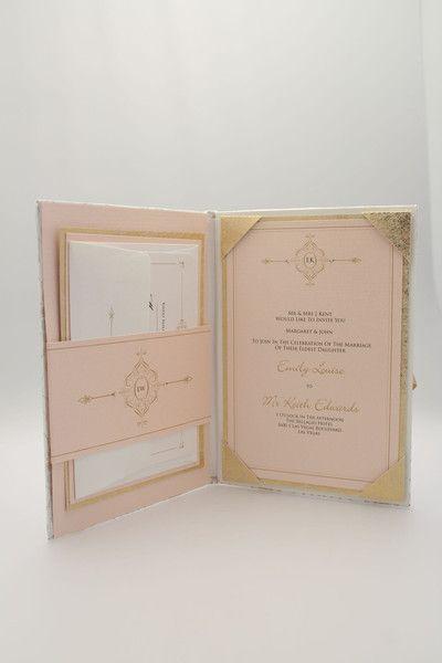 Luxury Couture Hard Backed Folio Wedding Invitation
