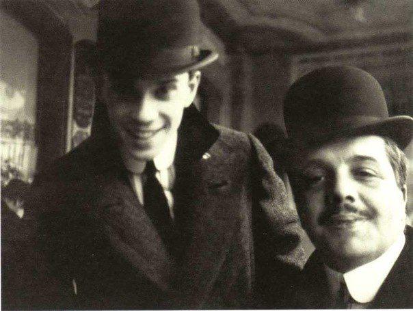 s2 Vaslav Nijinsky and Serge Diaghilev. 1911.  Photo by A. Botkin