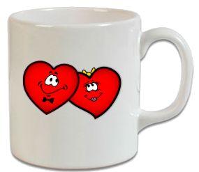 Romantik İki Kalp – Sevgiliye Hediye Kupa - Şu An Sadece 14,90 TL! Online Siparişe Özel Tasarımlar, Mağazalarda Yok! - Kapıda Ödeme - Süper Baskı ve Penye Kalitesi