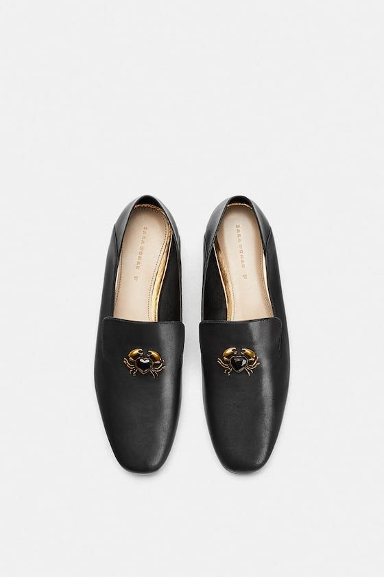 1370794cd DETAILED LEATHER LOAFERS - Flats-SHOES-WOMAN | ZARA United States ...
