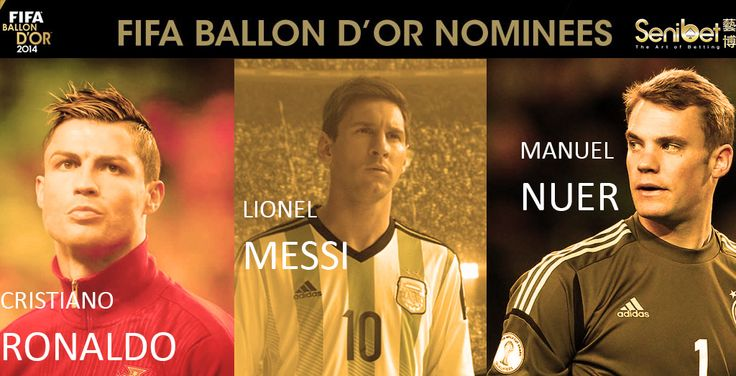 FIFA Ballon D'Or Nominees narrowed down to 3 candidates: Cristiano Ronaldo, Lionel Messi, Manuel Nuer.