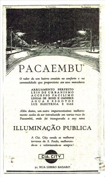 Anúncio publicado pela Cia. City no O Estado de S. Paulo