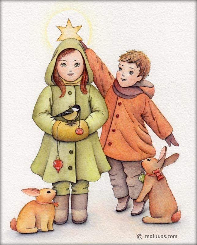 Christmas tree - Inktense pencils on 300gsm Daler-Rowney watercolor paper