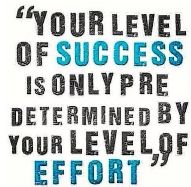 Success And Effort Are Intertwined Motivation Fitness Motivation