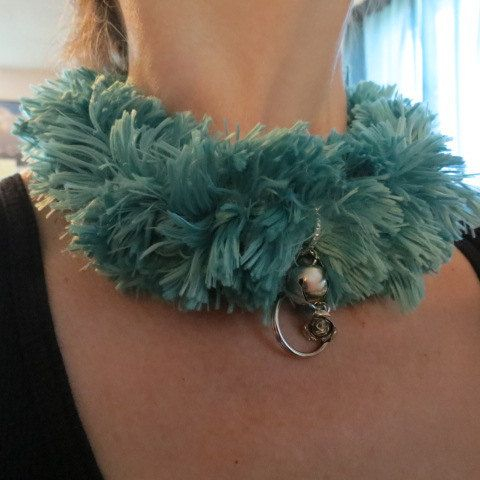Sea Green Fur Locking Slave Collar, Submissive Choker with Silver Charms, Custom Luxury Locking Slave Collar, Kitten, Kitty Slave Pet by HeartSongCreativeExp on Etsy