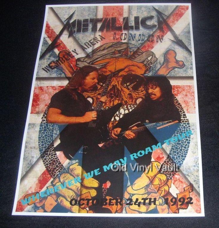 Metallica concert poster Wembley Arena London UK 1992 new A3 size repro | eBay