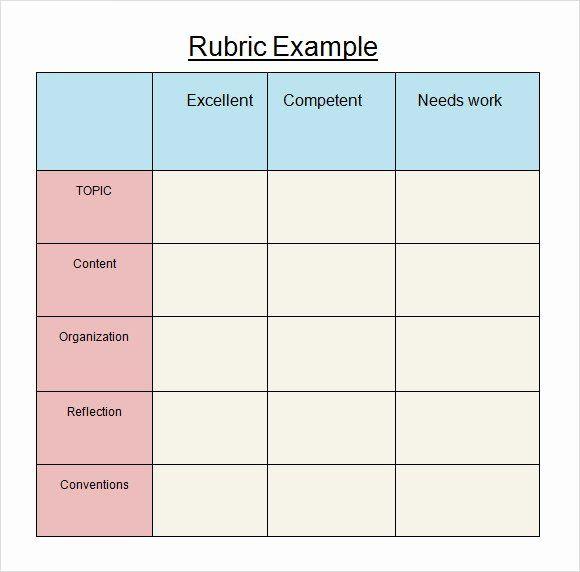 Rubric Template Microsoft Word In 2020 Rubric Template