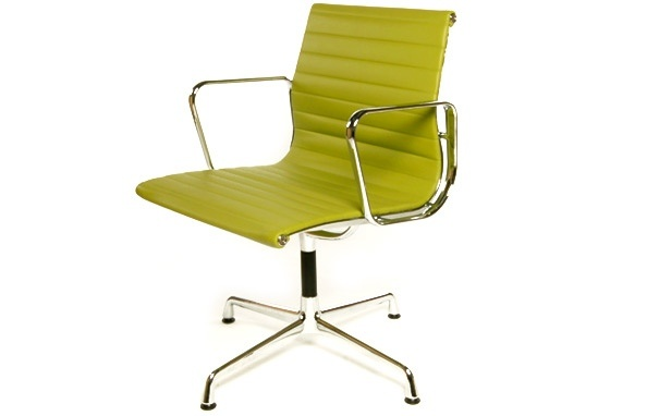 Green Eames style office chair