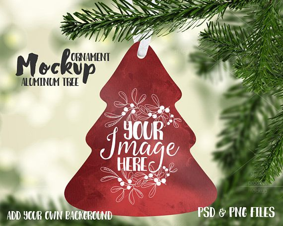 Tree Shaped Christmas Ornament Mockup Template Add Your Own Image And Background Mockup Free Psd Free Psd Mockups Templates Free Psd Flyer