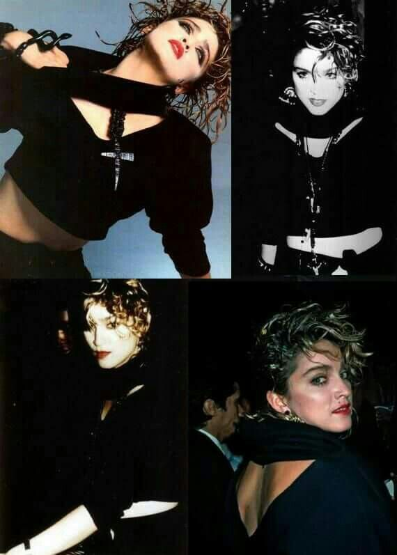 10 best girlie show images on pinterest madonna tour 80s icons madonna out and about wearing the cropped double v top with turtleneck top she wore for her 1984 harpers bazaar shoot fandeluxe Epub