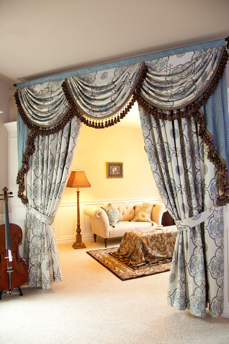 Classy Swags U0026 Jabots Curtain As A Room Divider