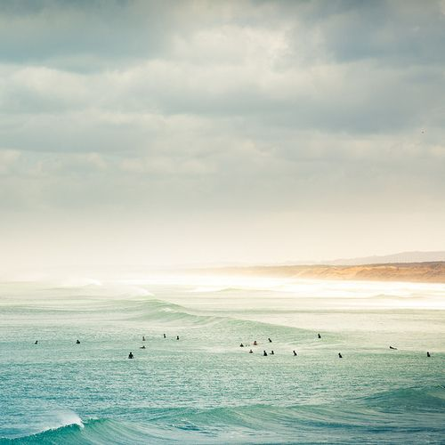 Summer Time >> Surfers waiting for a bombora.