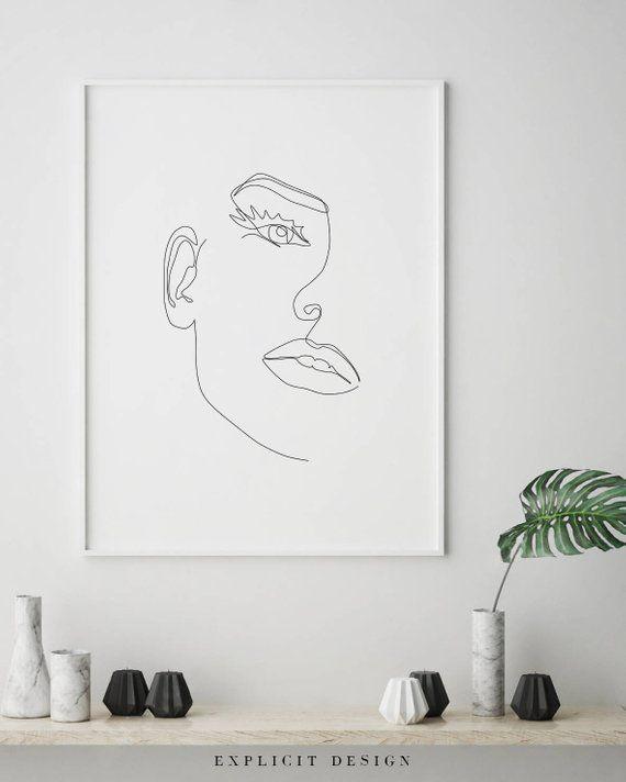 Voeg elegantie toe aan je kamer met one line art schilderijen – Marina S.
