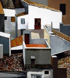 132. Terrazzino e tetti alla Kalsa, Palermo - 1976