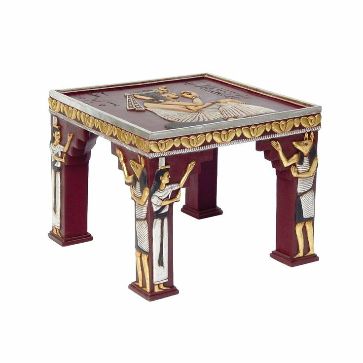 Egyptian Temple Of Khafre Ornamental Side Table Design Toscano