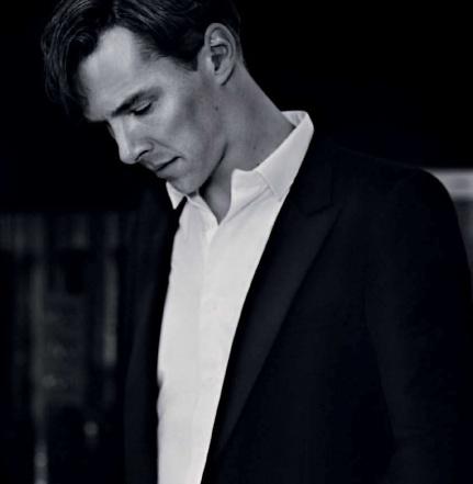 Benedict Cumberbatch. Love the black & white...